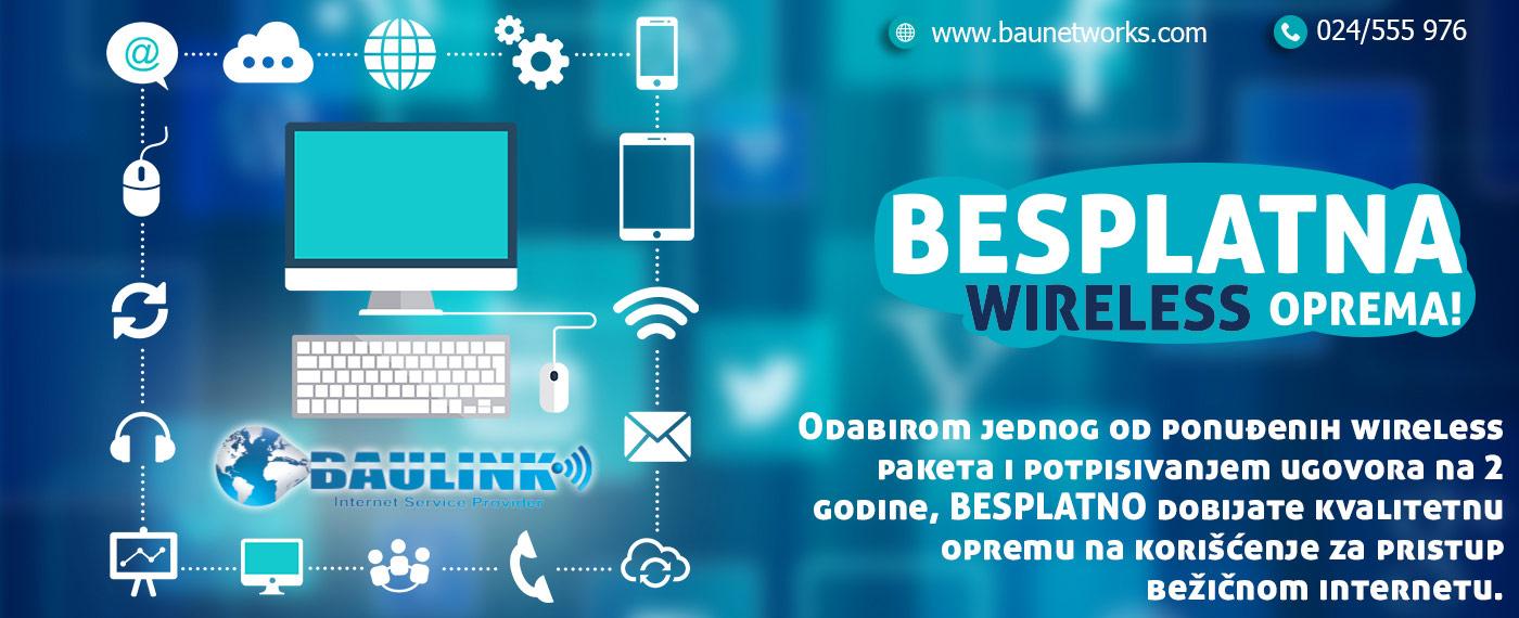 besplatna wireless oprema uz ugovor na 2 godine