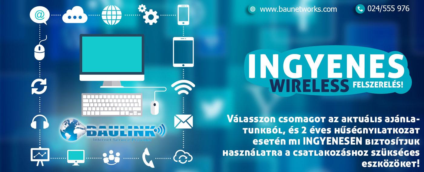 ingyenes wireless felszerelés 2 éves hűségnyilatkozattal